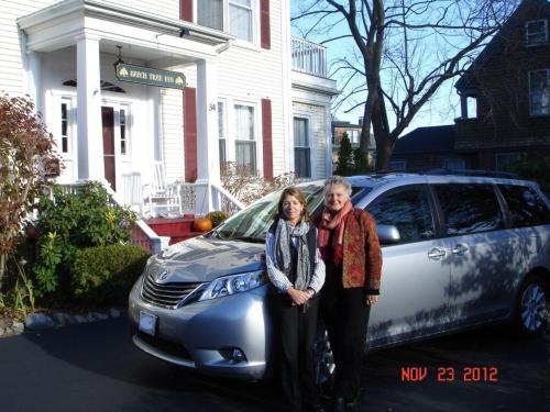 Women in front of car | ADMIRAL SIMS B&B, Newport Rhode Island