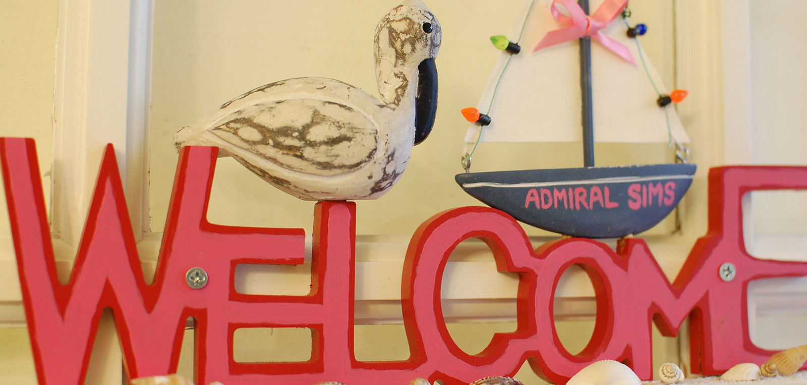 Admiral Sims Welcome Sign | ADMIRAL SIMS B&B, Newport Rhode Island